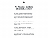 An Athlete's Guide to Chronic Knee Pain