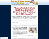 Snoring & Sleep Apnea No More – The Natural Way To Stop Snoring And Sleep Apnea
