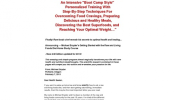 The Health Evolution Raw and Living Foods Home Study Course