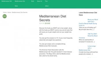 Mediterranean Diet Secrets – MediterraneanDietSecrets.com: Mediterranean diet information including, recipes, diet plans, news & more.