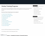 Hockey Training Programs – Workout Programs For Hockey Players