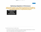 Optimizing Adaptation and Performance